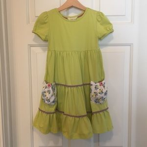 Matilda Jane Lime Green Dress w/ Pockets